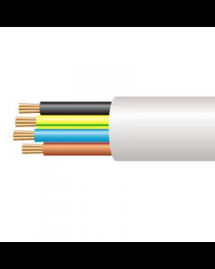 0.75mm² 3184Y 4 Core Flexible PVC Cable, White