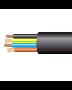 1.0mm² 3184Y 4 Core Flexible PVC Cable, Black