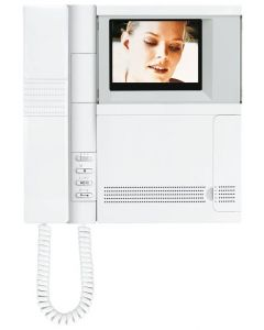 Terraneo/Bticino 334122 Colour Pivot Monitor, Pivot colour video handset with speech secrecy and wall mounting bracket.