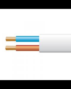 0.5mm² 2192Y 2 Core Flexible PVC cable, White