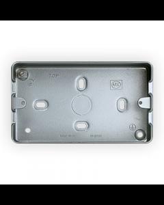MK Logic K8892ALM Box, 2 Gang Surface c/w KO