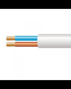 0.5mm² 2182Y 2 Core Flexible PVC cable, White