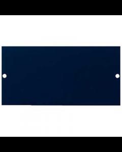 Mita INS55326 Floor Box Blanking Plate, 3 Comp 87mm x 173mm x 1mm Blue