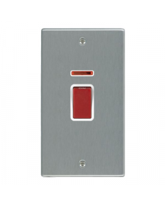 Hamilton Hartland 7445VW Rocker Red 1 Gang DP Switch 45A and Neon, White Insert