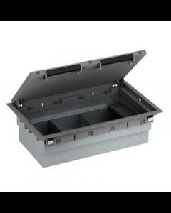 Mita INS53100 3 Compartment Floor Box, 100mm x 222mm x 348mm Grey