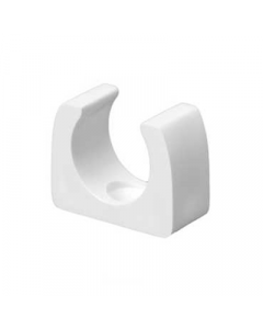 Mita CSA20W Spring Clip Round Saddle for Rigid Conduit 20mm White