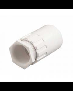 Mita PFA20W Female Thread Adaptor for Rigid Conduit 20mm White