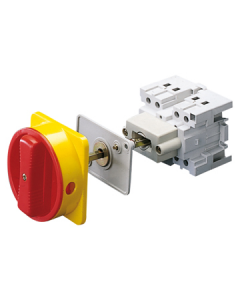 Gewiss GW70006 Switch, Control Rotary Pannel/Mtg, c/w Door Locking Device 32A