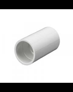 Mita PSC20W Plain Coupler for Rigid Conduit 20mm White