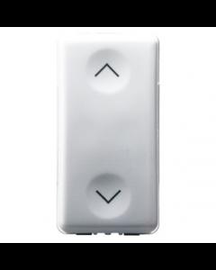Gewiss GW20521 Push-Button, 1P 250V ac - Double NO 10A, Vertical Arrow, 1 Module, System White