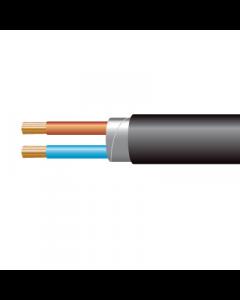 1.0mm² 3182Y 2 Core Flexible PVC cable, Black