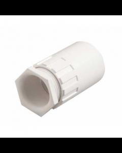 Mita PFA25W Female Thread Adaptor for Rigid Conduit 25mm White