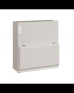 Hager VML306H Metal LA Consumer unit 6 Way 100A 30mA RCCB Incomer