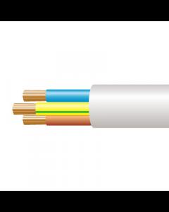 0.75mm² 3183Y 3 Core Flexible PVC cable, White