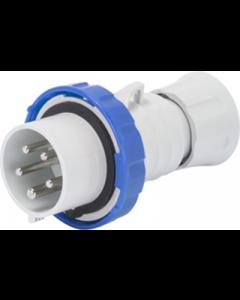 Gewiss GW60037H Straight Plug HP - IP66/IP67/IP68/IP69, 2P+E, 32A, 230V, 50/60HZ, 6H Screw Wiring