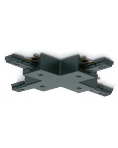 JCC JC14007BLK 4 Way Connector for Single Circuit Track IP20 Black