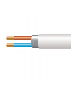 0.75mm² 3182Y 2 Core Flexible PVC cable, White