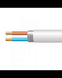 1.0mm² 3182Y 2 Core Flexible PVC cable, White