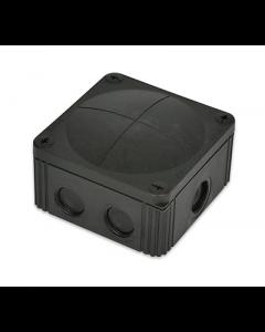 Wiska 10061779 Combi 607/5 Junction Box Inc. 5 Pole IP67, 41A Black Polypropylene