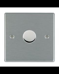 Hamilton Hartland 741X40 1 Gang 2 Way 400W Push On/Off Dimmer Switch Satin Steel