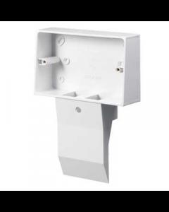 Mita SKB22W 2 Gang External Mounting Box for Skirting Trunking White