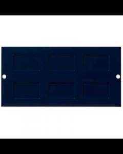 Mita INS55322 Floor Box Plate, 3 Comp 87mm x 173mm x 2mm, accepts 6x LJ6C / RJ45, Blue