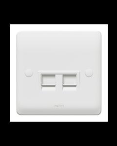 Legrand Synergy 730057 Double Data Socket 1G RJ45 Cat 6 White