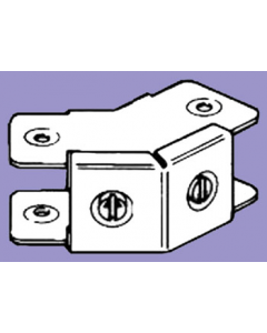 Barton Engineering QFFFO22 50mm x 50mm 45Deg 1 Compartment Bend c/w Outside Lid for Quick Fix Trunking