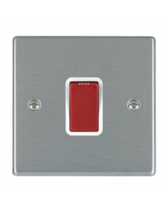 Hamilton Hartland 7445W Rocker Red 1 Gang DP Switch 45A White Insert