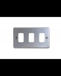 MK Logic K3493ALM Frontplate, 3G 3 Module 86x146mm Aluminium