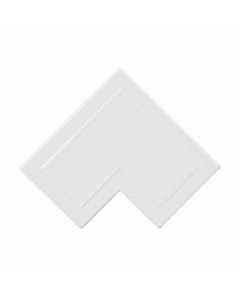 Mita MFA5W 38x38mm Flat Angle for Mini Trunking, White