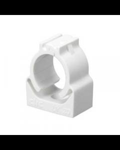 Mita UK20W Conduit fixing clips CLIC Self Locking for Rigid Conduit 20mm White