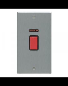 Hamilton Hartland 7445VB Rocker Red 1 Gang DP Switch 45A and Neon, Black Insert