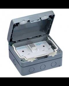 GET GWPIU3020R 13A 2 Gang Non-Latching RCD IP66 Socket 30mA,Weatherproof