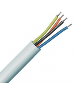4 Core Type 2 Unscreened Alarm Copper PVC Cable White  - Buy online from Sparkshop