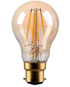 4W LED Filament GLS Lamp, B22, Gold finish, 20000hrs, 2700K