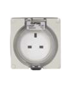 Clipsal  56SO313GY Socket outlet 3 pin, 13A, 250V, Grey (with enclosure)