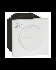 Legrand 572218 Arteor™ Fan Step Regulator Rotary Speed 2 Module Fan Controller - Buy online from Sparkshop
