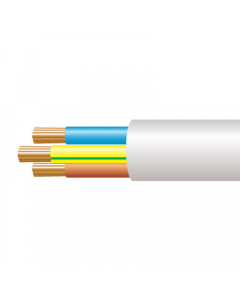6.0mm² 3183Y 3 Core Flexible PVC cable, White -  Buy online or in store from John Cribb & Sons Ltd