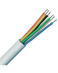 6 Core Type 2 Unscreened Alarm Copper PVC Cable White - Buy online from Sparkshop
