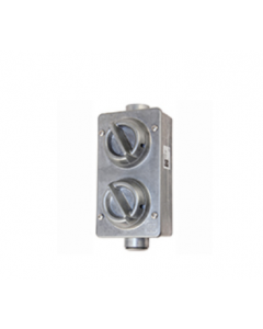 Lewden 717722 PD173/2AM TWO GANG SWITCH METAL RANGE IP66 - Buy online from Sparkshop