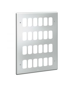 Legrand Synergy 733987 24 Gang Metalclad Grid Plate - buy online from SparkShop