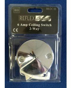 BG Electrical 802CH Ceiling Switch, Decorative 2 Way