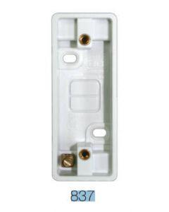 BG Electrical 837 1G, Arch Blank,19mm