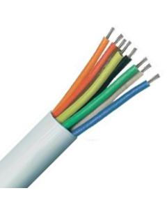 8 Core Type 2 Unscreened Alarm Copper PVC Cable White - Buy online from Sparkshop