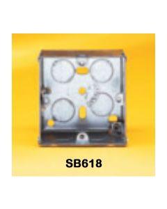 Appleby SB618 Flush Steel Installation Box, 1 gang, 47mm deep