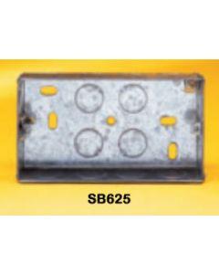 Appleby SB625 Flush Steel Installation Box, 2 gang, 35mm deep