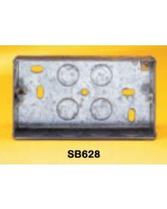 Appleby SB628 Flush Steel Installation Box, 2 gang, 47mm deep