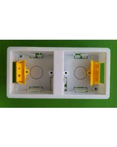 Appleby SB637 Dry Lining Box, Dual box (2 x 1 Gang), 35mm deep