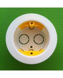 Appleby SB639 Circular Dry Lining Box, 1 gang, 35mm deep, 80mm diameter
